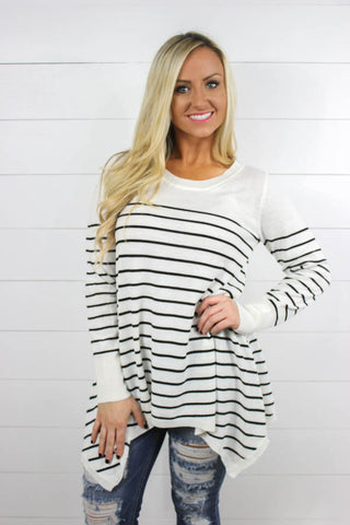 Bailey Long Sleeve Flowy Shirt - Glittering Boutique