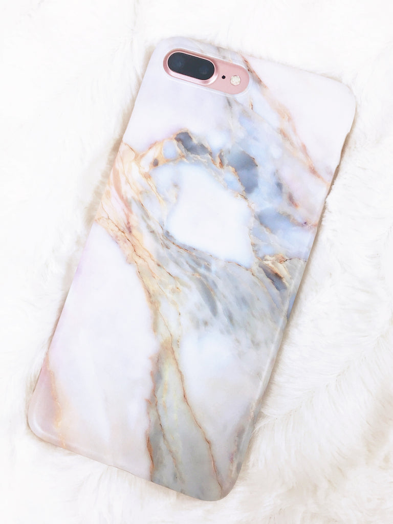 Marbled Iphone 7S Plus Phone Case - Glittering Boutique