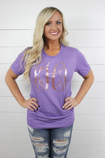 Rose Gold Personalized Tee - Glittering Boutique