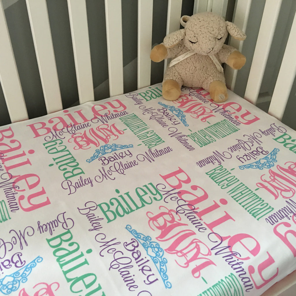 Personalized Baby Blankets - Princess Collection - Glittering Boutique
