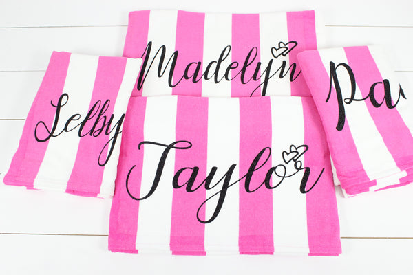 Personalized  Beach Towel - Glittering Boutique
