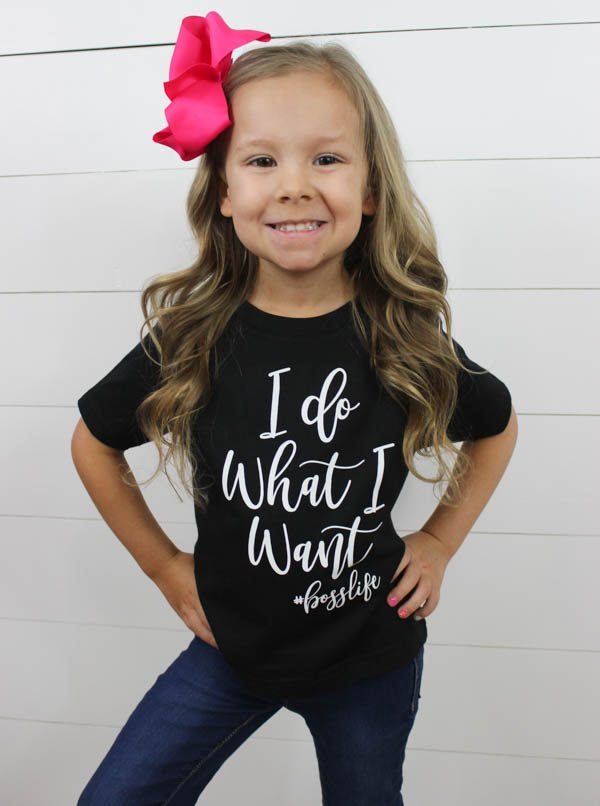 I Do What I Want Toddler Tee - Glittering Boutique