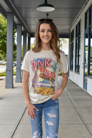 Pink Cactus Hotel Graphic Tee