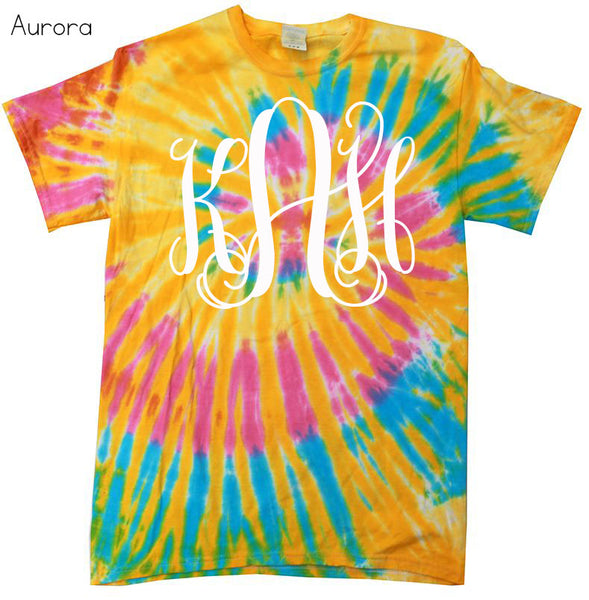 Tie Dye Monogram Shirt - Glittering Boutique