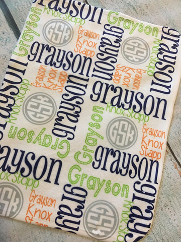 Personalized Baby Blankets - Grayson Collection - Glittering Boutique