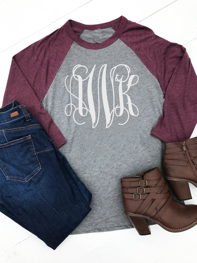 Personalized Raglan - Glittering Boutique