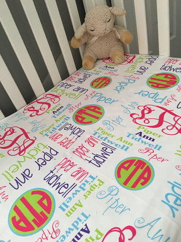 Personalized Baby Blankets - Piper Collection - Glittering Boutique
