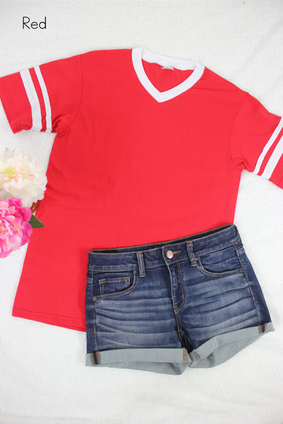 Personalized Varsity Tee - Glittering Boutique