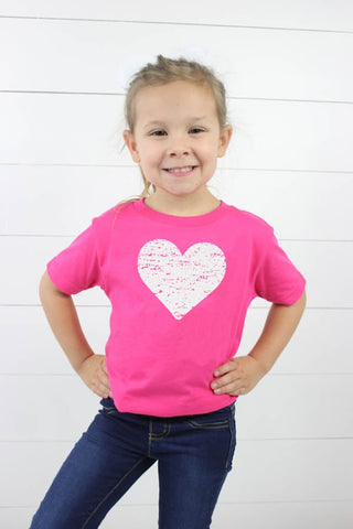 Heart Toddler Tee - Glittering Boutique