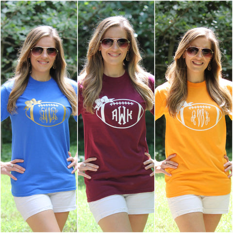 Personalized Football Tees - 20 Colors!! - Glittering Boutique