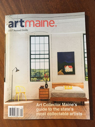 Chilton Live Edge bed selected for the cover of the annual artmaine. magazine