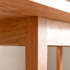 Detail image of joinery on Shaker Heirloom Dining Table