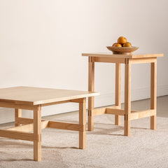 Union coffee and side table set in maple