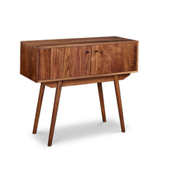 Large mid-century style Fjord Sideboard in walnut with long angled legs