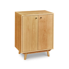 Mid-century style Fjord Sideboard in white oak with short angled legs