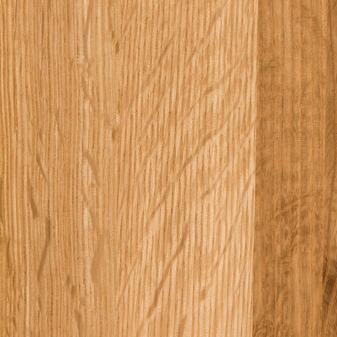 Natural quarter-sawn white oak wood sample