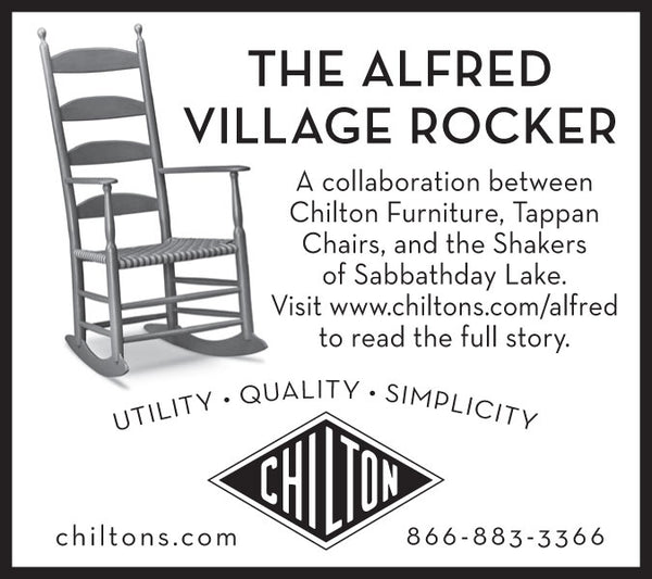 Chilton Furniture - The Alfred Rocker - print ad