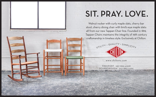 Chilton Furniture - Sit. Pray. Love - print ad