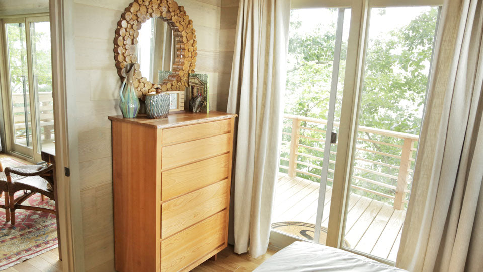 Treehouse masters mirrors Mystical For Local Schedules Visit Animalplanetcom Chilton Furniture Chiltons Live Edge Collection Featured On Treehouse Masters