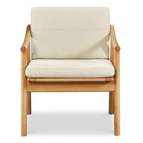 Our original and new Nautilus Lounge Chair in white oak