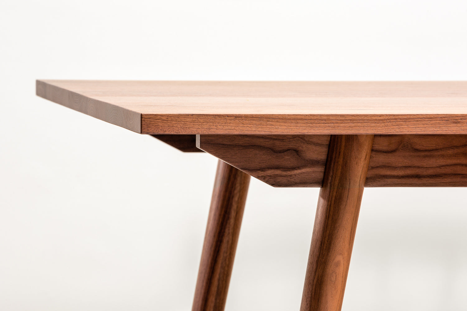 Scandinavian inspired walnut dining table from Chilton Furniture.