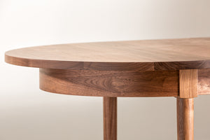 Highland solid walnut oval dining table from Chilton Furniture.