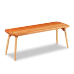Davis Bench in cherry and maple with round tapered post legs