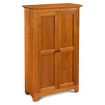Solid cherry Shaker Pie Safe with two doors, from Maine's Chilton Furniture Co.