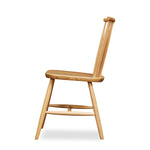 Windsor style chair with round crest in oak