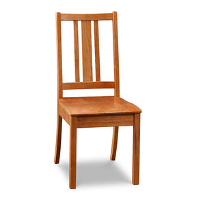 Simple Bungalow inspired side chair with squared back in solid cherry wood