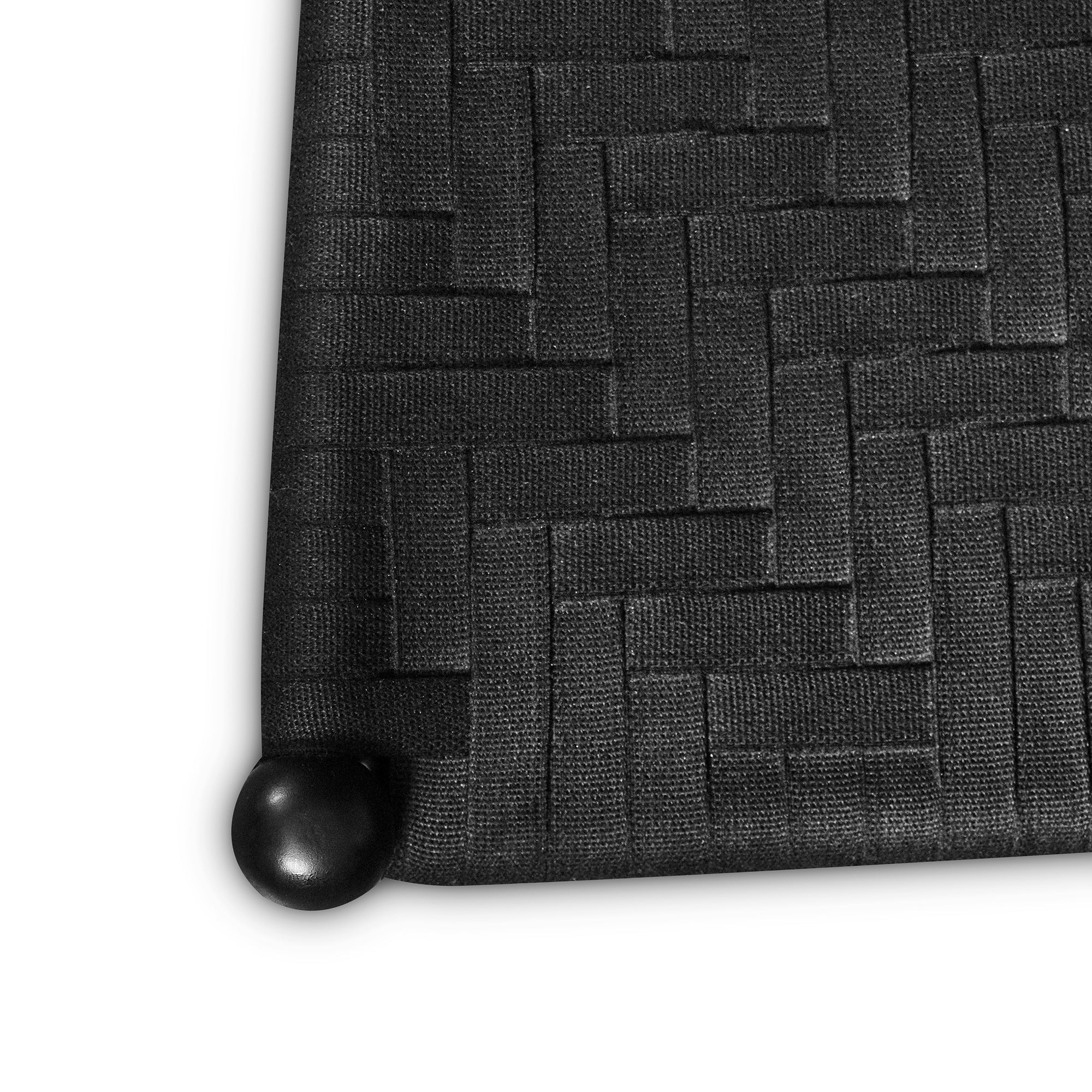 Top view of black woven seat tape on Tappan dining chair from Maine's Chilton Furniture Co.
