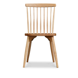 Classic spindle back chair with round tapered legs in solid maple wood
