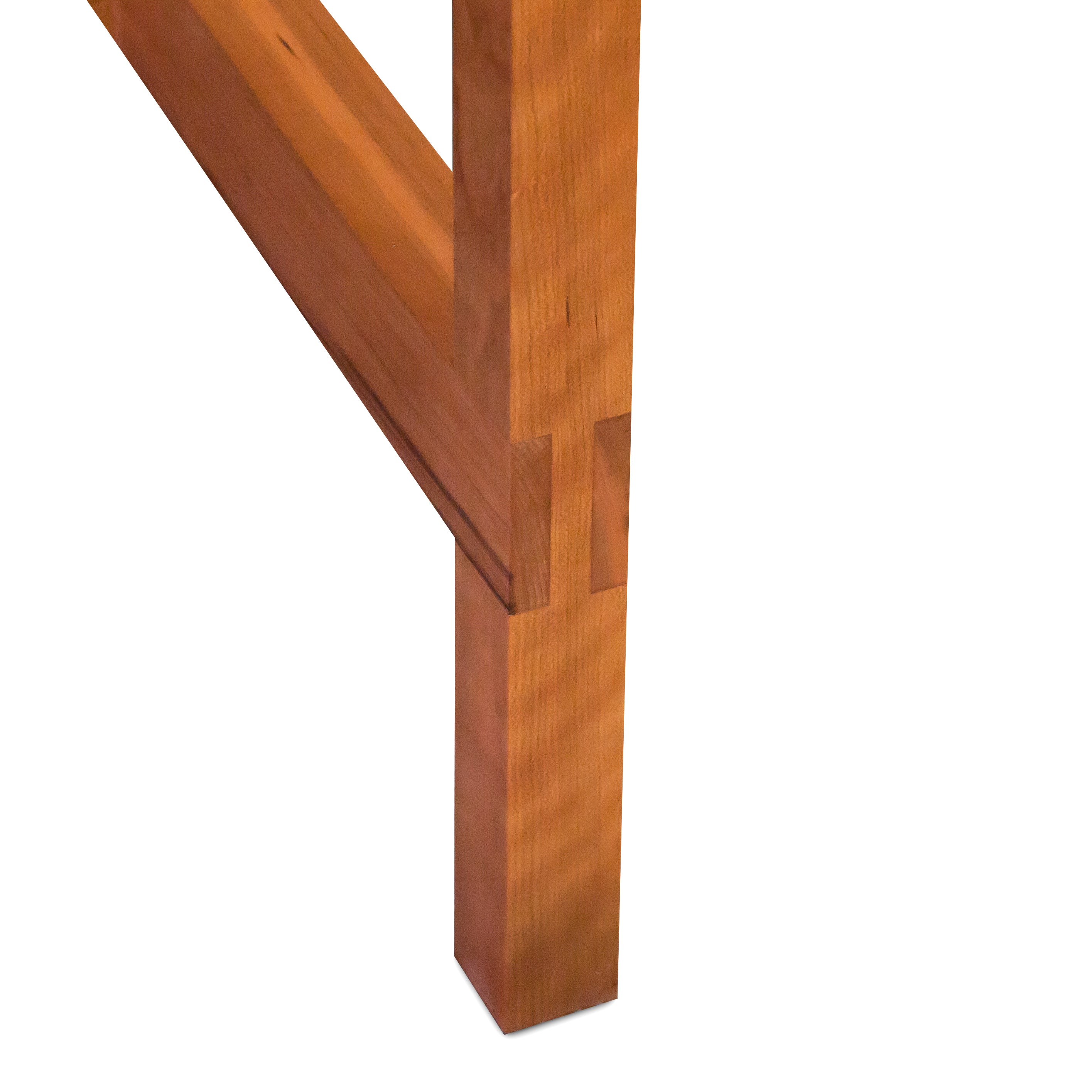 Mortise and tenon joinery on Union Table