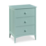 Phoebe Cottage Dresser with three drawers and bead board sides, in cottage Sea Glass paint color