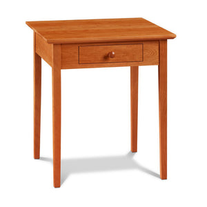 Simple square Shaker Side Table, built in cherry with drawer and square tapered legs