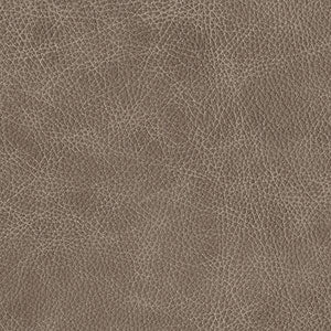 Swatch of grey toned Mushroom leather option for Chilton Ottoman cushion