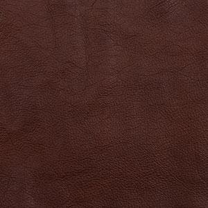 Swatch of dark brown toned Pecan leather option for Chilton Ottoman cushion
