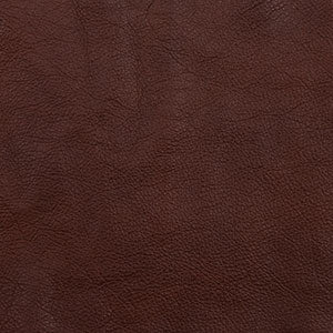 Swatch of dark brown toned Pecan leather option for Mission Recliner cushions