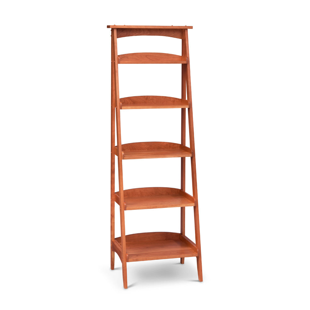 Solid cherry Ladder Bookshelf