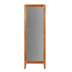 Tall floor length mirror with cherry wood frame and square tapered legs