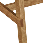 Detail of leg joinery on white oak North Dining Table from Chilton Furniture Co. in white oak