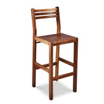 Solid walnut wood bar stool with ladderback top