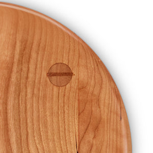 Mortise and tenon joinery on cherry Round Stool seat