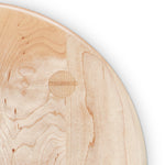 Mortise and tenon joinery on maple Round Stool seat