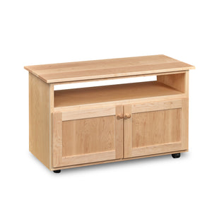 "Chilton Rolling Media Cart, in Maple, 41"" wide."