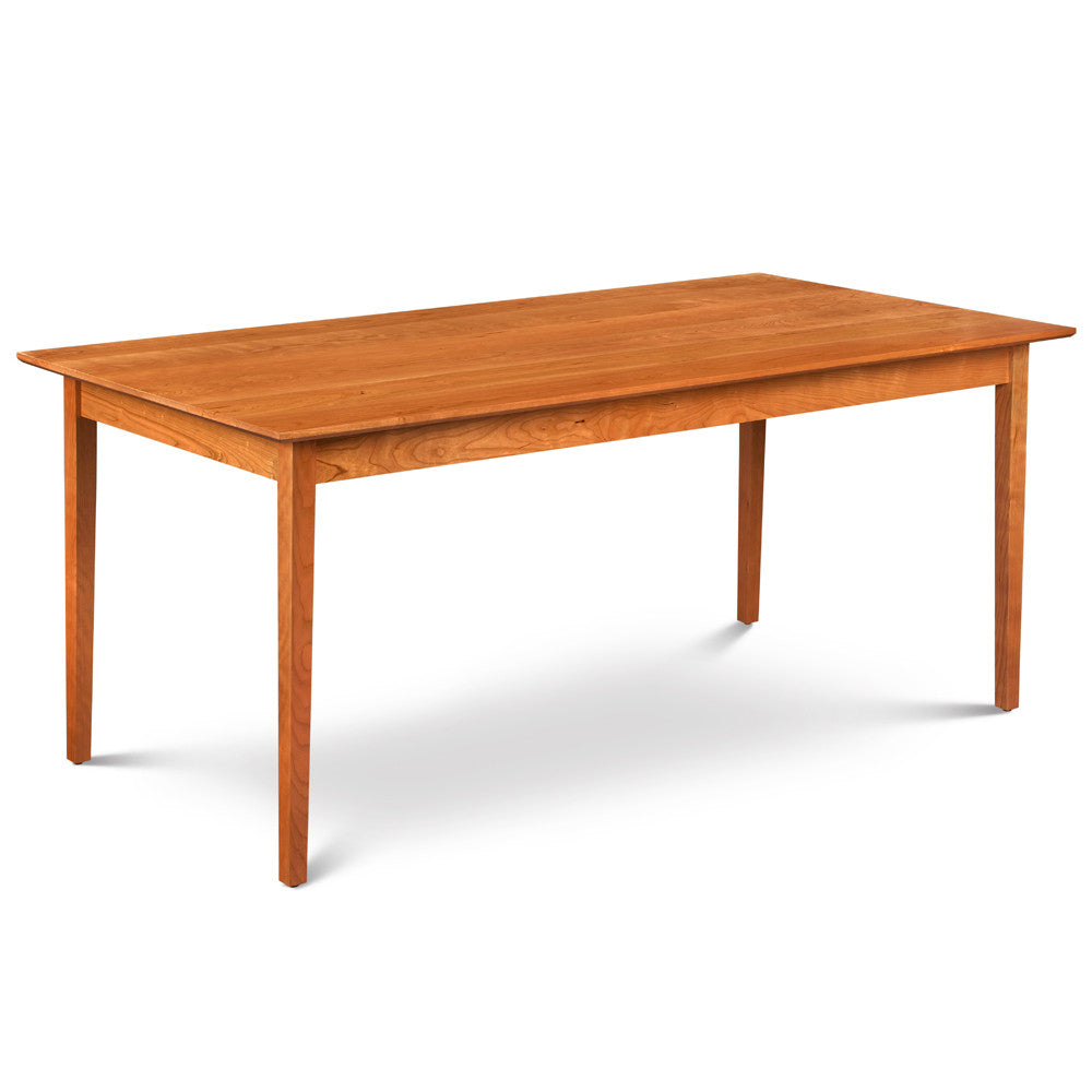 Solid top Shaker dining table made of cherry wood from Maine's Chilton Furniture Co.