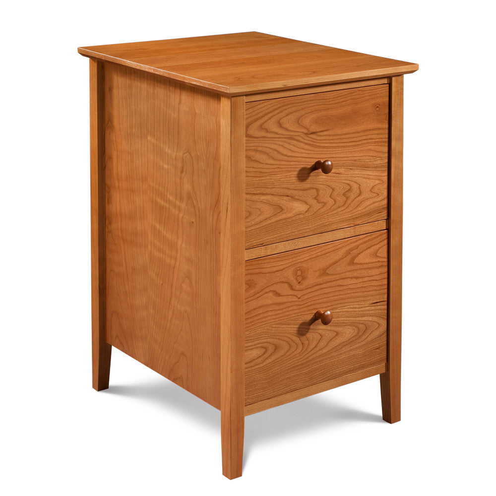 Shaker file office storage with two drawers in cherry wood, from Maine's Chilton Furniture Co.