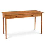 Simple Shaker Writing Desk with two drawers and slim tapered legs from Maine's Chilton Furniture Co.