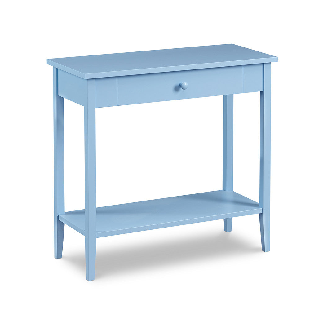 Cottage Hall Table with one drawer and low shelf, in cottage Windy Sky paint color