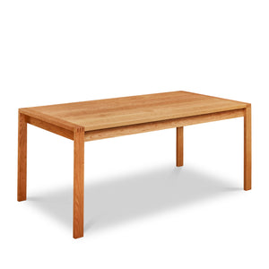 Modern parsons table with visible joinery in cherry, from Maine's Chilton Furniture Co.